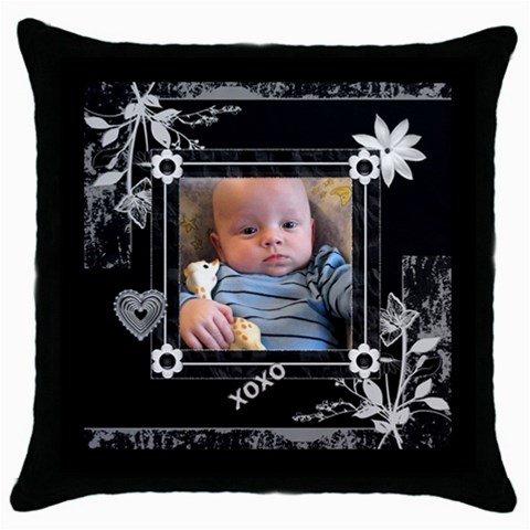 Beautiful Black Love Throw Pillow Case By Lil    Throw Pillow Case (black)   Uht99dhvyzg0   Www Artscow Com Front