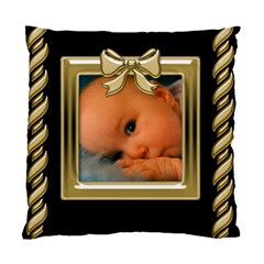 Black And Gold Cushion (2 Sided) By Deborah   Standard Cushion Case (two Sides)   Mif6aghpqgju   Www Artscow Com Front