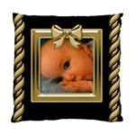 Black and Gold Cushion (2 sided) - Standard Cushion Case (Two Sides)
