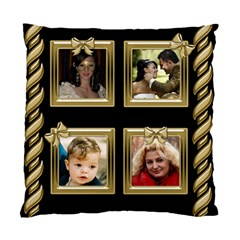 Black And Gold Cushion (2 Sided) By Deborah   Standard Cushion Case (two Sides)   Mif6aghpqgju   Www Artscow Com Back