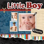 little boy - ScrapBook Page 12  x 12