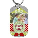 thank you - Dog Tag (One Side)