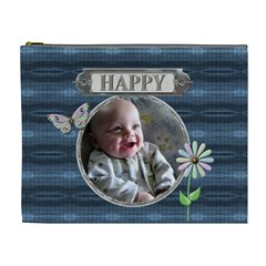 Happy Xl Cosmetic Bag By Lil    Cosmetic Bag (xl)   7c6p406h03p3   Www Artscow Com Front