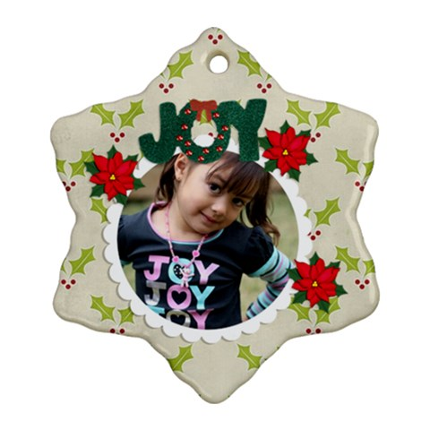 Ornament  Snowflake5 By Jennyl   Ornament (snowflake)   T4er4dmpqe27   Www Artscow Com Front