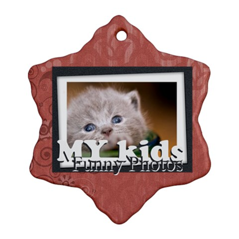 My Kids By Joely   Ornament (snowflake)   Ize4n2oeljte   Www Artscow Com Front