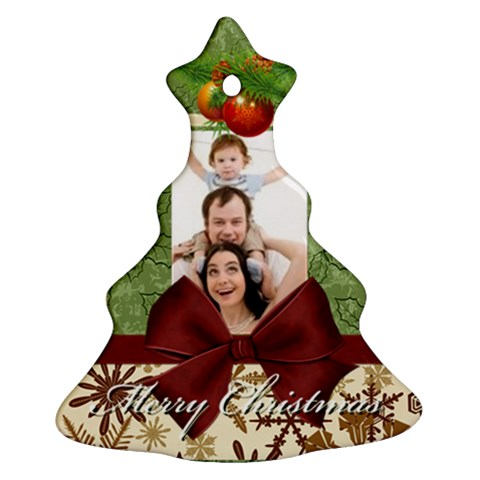 Merry Christmas By Joely   Ornament (christmas Tree)    E7m4vtgsst6g   Www Artscow Com Front