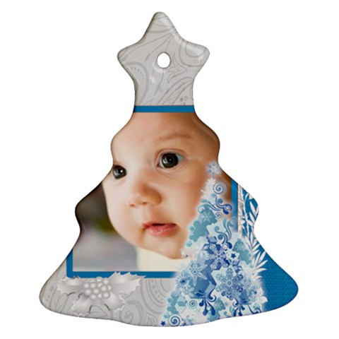 Merry Christmas By Joely   Ornament (christmas Tree)    Ofia0i5itgv0   Www Artscow Com Front