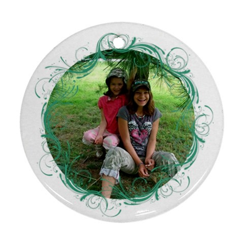 Melly And Kimmy Orda By Jolene   Ornament (round)   Fufkkq2lwqi3   Www Artscow Com Front