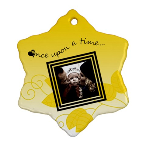 Once Upon A Time   Snowflake Ornament By Carmensita   Ornament (snowflake)   8r8m1zfx43oi   Www Artscow Com Front