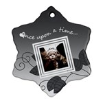 Once upon a time (black and white) - Snowflake ornament - Ornament (Snowflake)