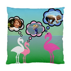 Flamingo Thought Cushion Case By Deborah   Standard Cushion Case (two Sides)   Fjy9hsmw2kjk   Www Artscow Com Front