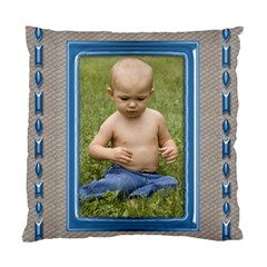 Blue And Silver Cushion Case By Deborah   Standard Cushion Case (two Sides)   Sn2dqb5od42f   Www Artscow Com Front