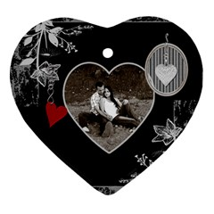 Black Love Heart 2 Sided Ornament By Lil    Heart Ornament (two Sides)   Ndhnynbq6hru   Www Artscow Com Back