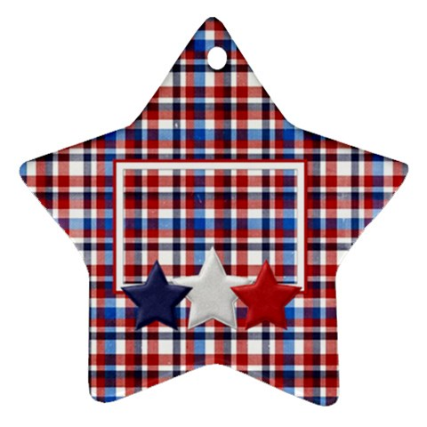 My Country Star Ornament 1 By Lisa Minor   Ornament (star)   Dfkh49nn25zq   Www Artscow Com Front