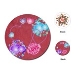 flowery hearts playing cards - Playing Cards (Round)
