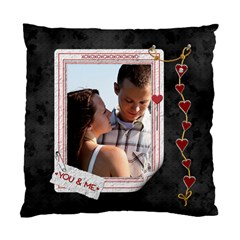 You & Me 2 Sided Cushion Case By Lil    Standard Cushion Case (two Sides)   Levl2a1fqlcf   Www Artscow Com Front