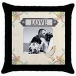 Love Throw Pillow Case - Throw Pillow Case (Black)