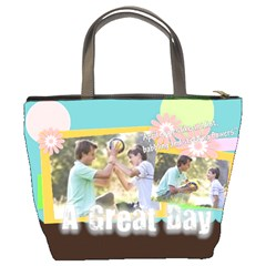 A Great Day By Joely   Bucket Bag   4g4qxr6i6jao   Www Artscow Com Back