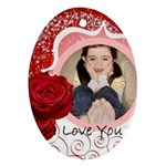 i love you - Ornament (Oval)