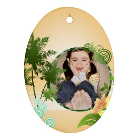 Summer By Wood Johnson   Ornament (oval)   2avbiyk4e31c   Www Artscow Com Front