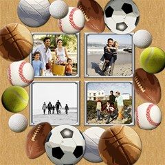 Sports Theme Kids Photo Storage Cube By Angela   Storage Stool 12    Mc0kloyb0euc   Www Artscow Com Top