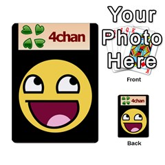 4chan By Adam   Multi Purpose Cards (rectangle)   J2yd4rucy3mg   Www Artscow Com Back 4