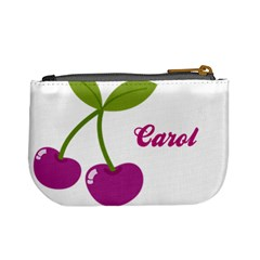 Cherry Mini Coin Purse 02 By Carol   Mini Coin Purse   9p6h9iatd452   Www Artscow Com Back