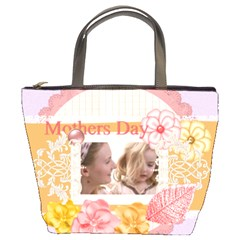 Mothers Day By Joely   Bucket Bag   0vgaghxvhof7   Www Artscow Com Front