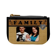 My Family Mini Coin Purse By Lil    Mini Coin Purse   6raonr8akhm8   Www Artscow Com Front