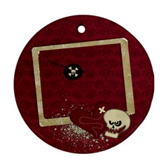 Pirate Round Ornament (2 Sides) By Mikki   Round Ornament (two Sides)   R97p5eosprr2   Www Artscow Com Back