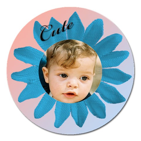 Cute As A Daisy 2 Magnet By Deborah   Magnet 5  (round)   Ownt3gdwne0v   Www Artscow Com Front