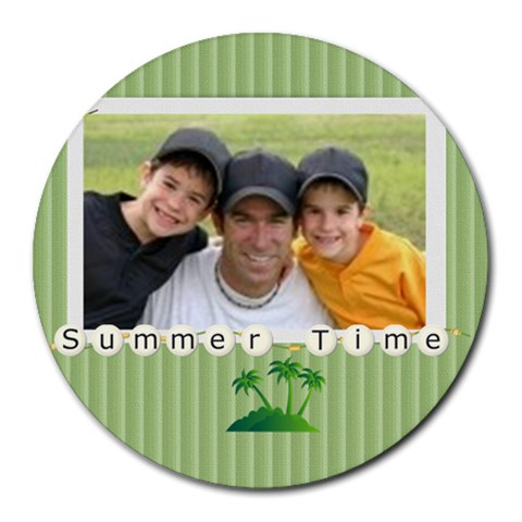 Summer By Joely   Round Mousepad   Jruf8sqimx85   Www Artscow Com Front