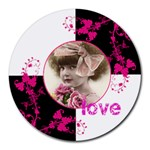 Pinkadink Round Mousemat - Round Mousepad