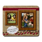 Brown Red Frames Photo Mousepad - Large Mousepad