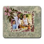 Live Laugh Love Photo Mousepad - Large Mousepad