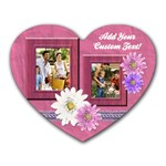 Pink Daisies Photo Mousepad - Heart Mousepad