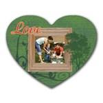 Green Tree Photo Mousepad - Heart Mousepad