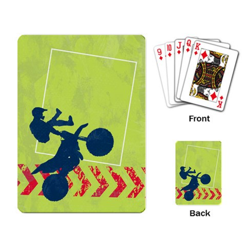 Motorcycle/dirt Bike/extreme Sports Playing Cards By Mikki   Playing Cards Single Design   Xleqbaelp7dg   Www Artscow Com Back