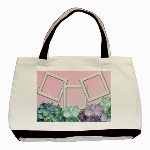Silver Hydranga Tote By Deborah   Basic Tote Bag   8hry5o7qty3t   Www Artscow Com Front