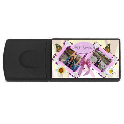My Love  By Kim Blair   Usb Flash Drive Rectangular (2 Gb)   6mjbunhf8r1q   Www Artscow Com Front