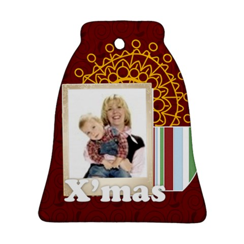 Christmas By Joely   Ornament (bell)   V08fpkyap17g   Www Artscow Com Front