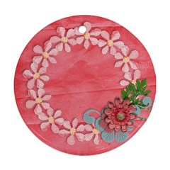 Floral Lace Round Ornament (2 Sides) By Mikki   Round Ornament (two Sides)   Xld1dxnjlyb7   Www Artscow Com Front