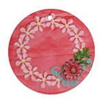 Floral Lace-round ornament (2 sides) - Round Ornament (Two Sides)