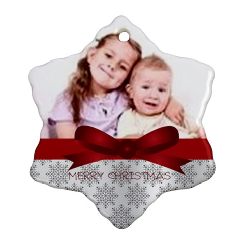 Xmas By Wood Johnson   Ornament (snowflake)   2am8y6iho2ag   Www Artscow Com Front