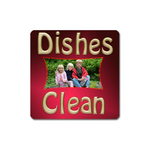 Dishes Clean Square Magnet By Deborah   Magnet (square)   Iiksshgbqfrv   Www Artscow Com Front