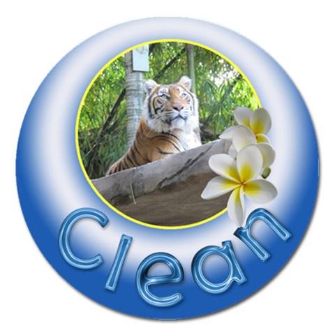 Clean Dishes Round Magnet By Deborah   Magnet 5  (round)   Ktsv1wh083cm   Www Artscow Com Front