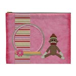 Sock Monkey Love XL Cosmetic Bag 1 - Cosmetic Bag (XL)
