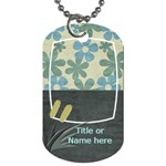 Lets Get Beachy Cattail Tag - Dog Tag (One Side)