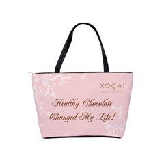 Healthy Chocolate Lge Pink Bag By Lynette Henk   Classic Shoulder Handbag   Fnd6su5927mh   Www Artscow Com Back