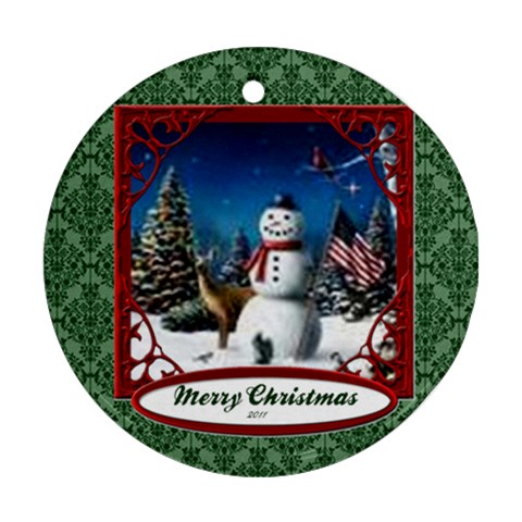 Snow By Kamryn   Ornament (round)   Nvo59ycbncdp   Www Artscow Com Front
